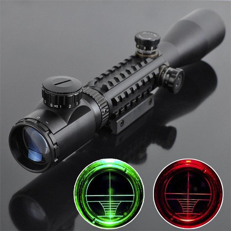 Охотничий оптический прицел оптика 3-9x40 LLL Ночное видение оптический подсветкой прицел Стремясь устройства снайпер прицел AR15 AR10. 223/. 308