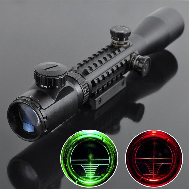 Hunting Riflescope Optics 3-9x40 LLL Night Vision Optical Illuminated Sight Aiming Device Sniper Rifle Scope AR15 AR10 .223/.308