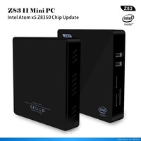Z83II Mini PC Windows 10 Intel Atom X5 Z8350 4 ядра 2,4 г 5,8 Г Wi Fi настольных компьютеров миникомпьютер мини медиа плейер