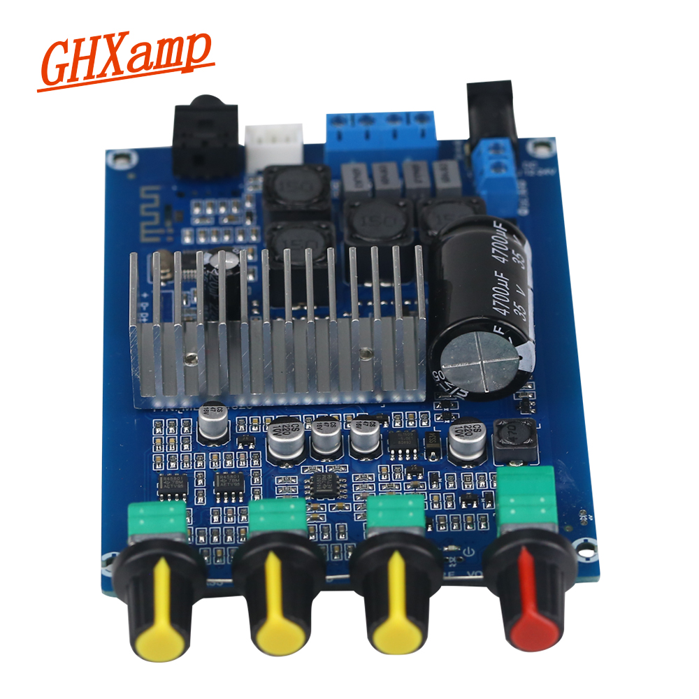 Ghxamp TPA3116 Bluetooth Verstärker 50 + 50 watt 2,0 Verstärker Digital Audio Board Mit Bass Mid Hochtöner Lautsprecher Einstellen DC12-24V neue