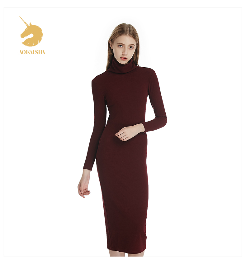 e083c4f2e538 The Korean Version Of Slim Package Hip Knitted Sweater Dress And ...