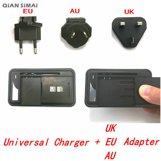 QiAN SiMAi USB Universal Travel Battery Wall charger For Samsung Galaxy Core 2 G355H Star W800 S5 For Philips S388 S399 W6618