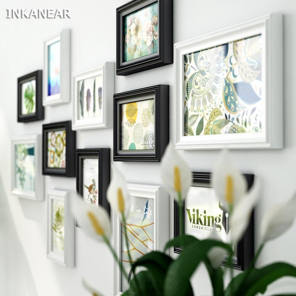 Multi frame Modern Living Room Solid Wood Picture Frames Black ...