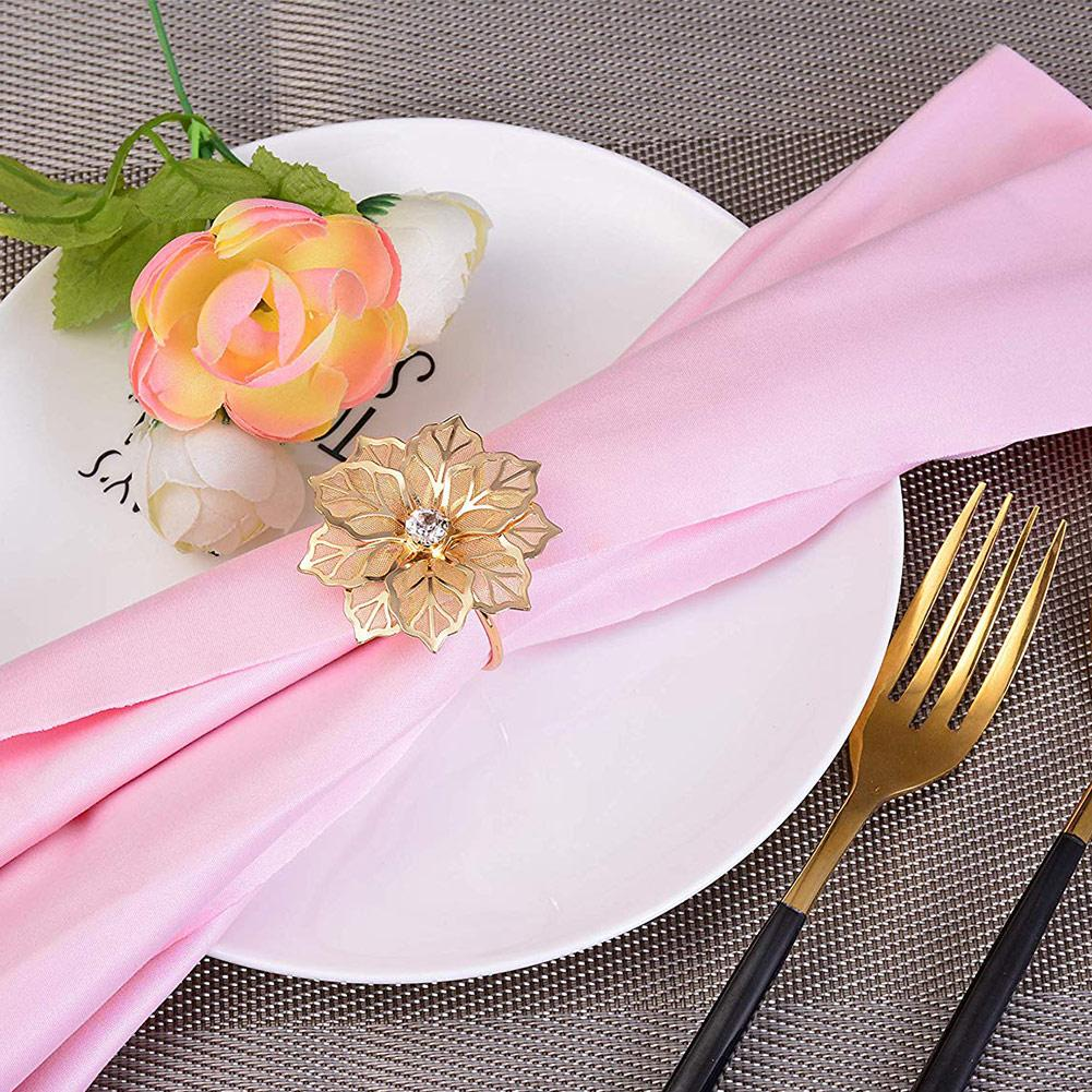 1pc Napkin Rings Hollow Out Flower Dinner Parties Birthdays Weddings Decoration Tool Hotel Table Decoration napkin holder in Napkin Rings from Home Garden