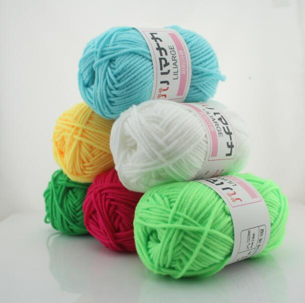 TPRPYN 25g/Pc 25g/ball Colorful Combed Soft Baby Milk Cotton Yarn Fiber Velvet Yarn Hand Knitting Wool Crochet Yarn For DIY