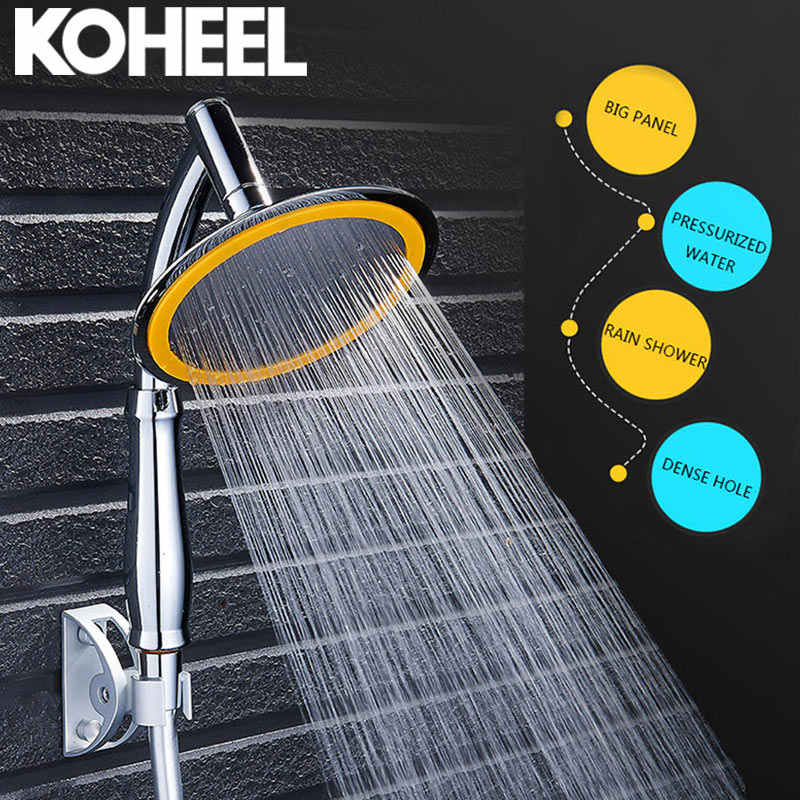 Shower Head Water Saving Rain Handheld Shower Big 6 Inch High Pressure Bathroom Rainfall Shower SPA Shower Head