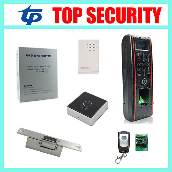 IP65 waterproof biometric fingerprint door lock access control system with RFID card reader TCP/IP Linux system access control tcp ip biometric face recognition door access control system with fingerprint reader and back up battery door access controller
