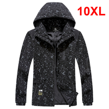 Oversized Jacket Men Thin Windbreaker Casual Coat Polyester 2019 Fashion Spring Plus Size Jackets for Male 8XL 9XL 10XL HD057