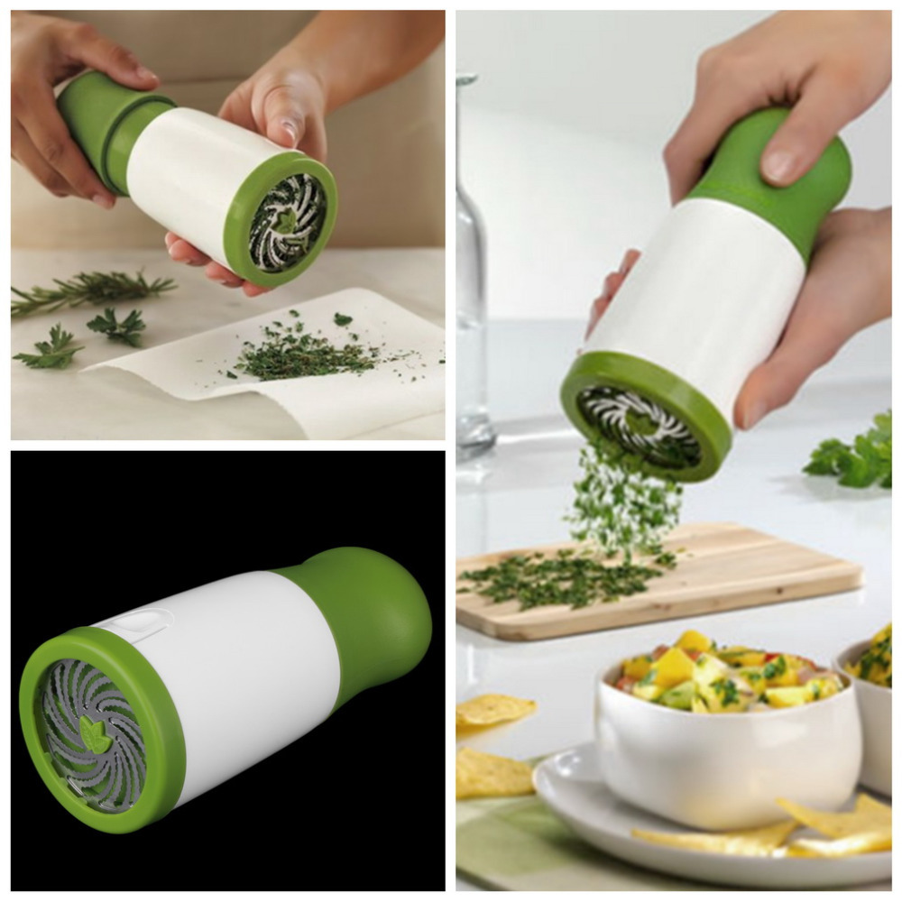 Herb Grind Cooking Tools Spice Mill Parsley Shredder Chopper Fruit Vegetable Cutter