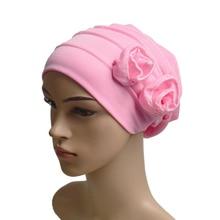 muslim women inner hijabs plain turban caps two florals islamic wimple headband sleeping hats india