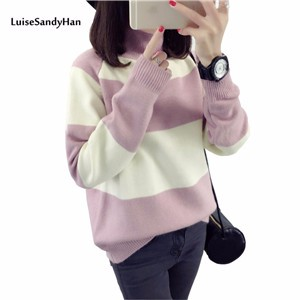-Women-Sweaters-And-Pullovers-Female-2017-Newest-Striped-Knitted-Sweater-Women-Long-Sleeve-Jumper-Pull (1)