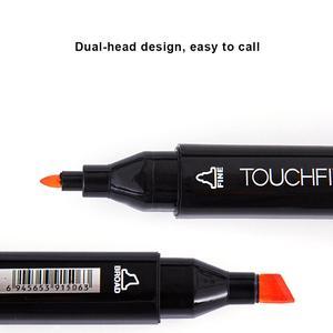 Image 4 - الفنان اللازمة الجرافيك قلم تحديد مزدوجة المنتهية ماركر رسم Finecolour واسعة و غرامة نقطة تلميح مع أسود حقيبة