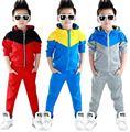 Новый 2016 Мода Baby boy Устанавливает мальчик спортивный костюм спортивная одежда детей костюмы дети одежда наборы roupa infantil J0134