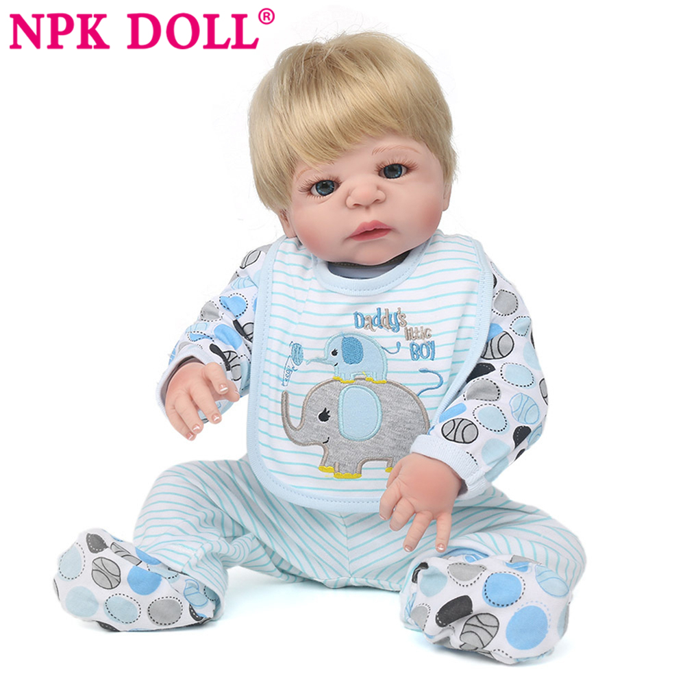 NPKDOLL bebe reborn with silicone body 55cm realistic babies reborn dolls toys for children baby reborn boy babies dolls clothes npkdoll 22 inch 55cm silicone reborn baby dolls with implanted mohair good price playmate christmas gift for children