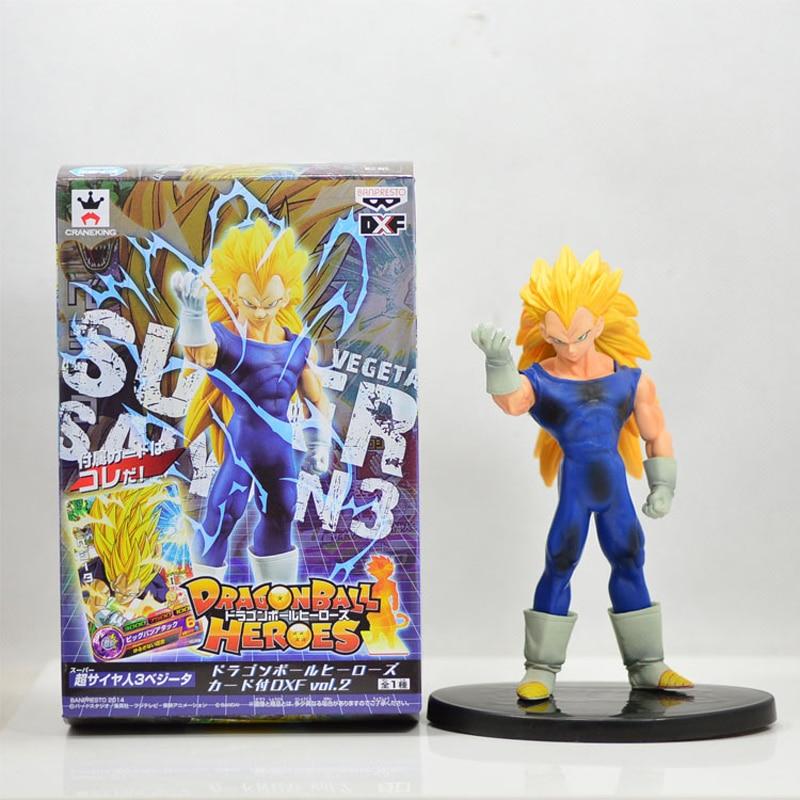 16cm Anime Dragon Ball Z Heroes Super Saiyan 3 Vegeta PVC Action Figures Dragonball Figure Collectible Model Toys With Box