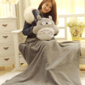 165CM * 100CM Totoro coral fleece blanket Pillow cushion Adult plush toys wholesale air conditioning blanket Christmas gift doll