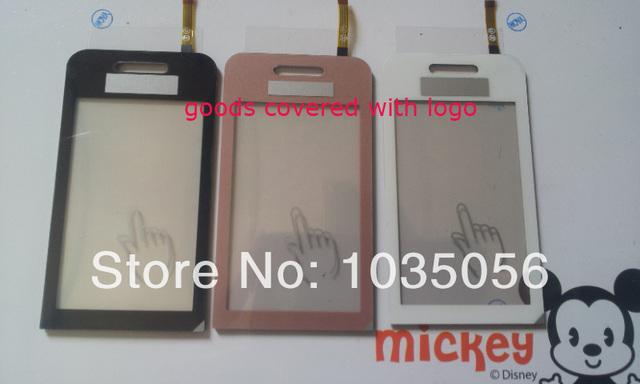 10 pçs/lote para samsung s5230 touch screen digitador peças de reposição painel de toque de lente de vidro com rastreamento no; frete grátis
