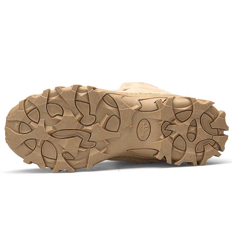 2019 Winter Militaire Laarzen Mannen Mode Leger Laarzen Mannen Tactische Desert Combat High Top Enkellaarsjes Mannen Outdoor Werk schoenen Mannen