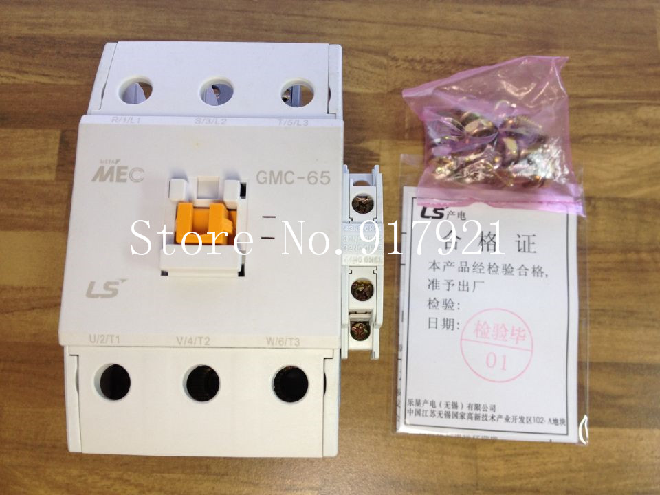 [ZOB] South Korea's original MEC GMC-65 power 220V AC contactor to ensure genuine fake a lose ten --2pcs/lot [zob] japan s yaskawa h1 7e5ns 220v 4a 20a yaskawa ac contactor genuine original 3pcs lot