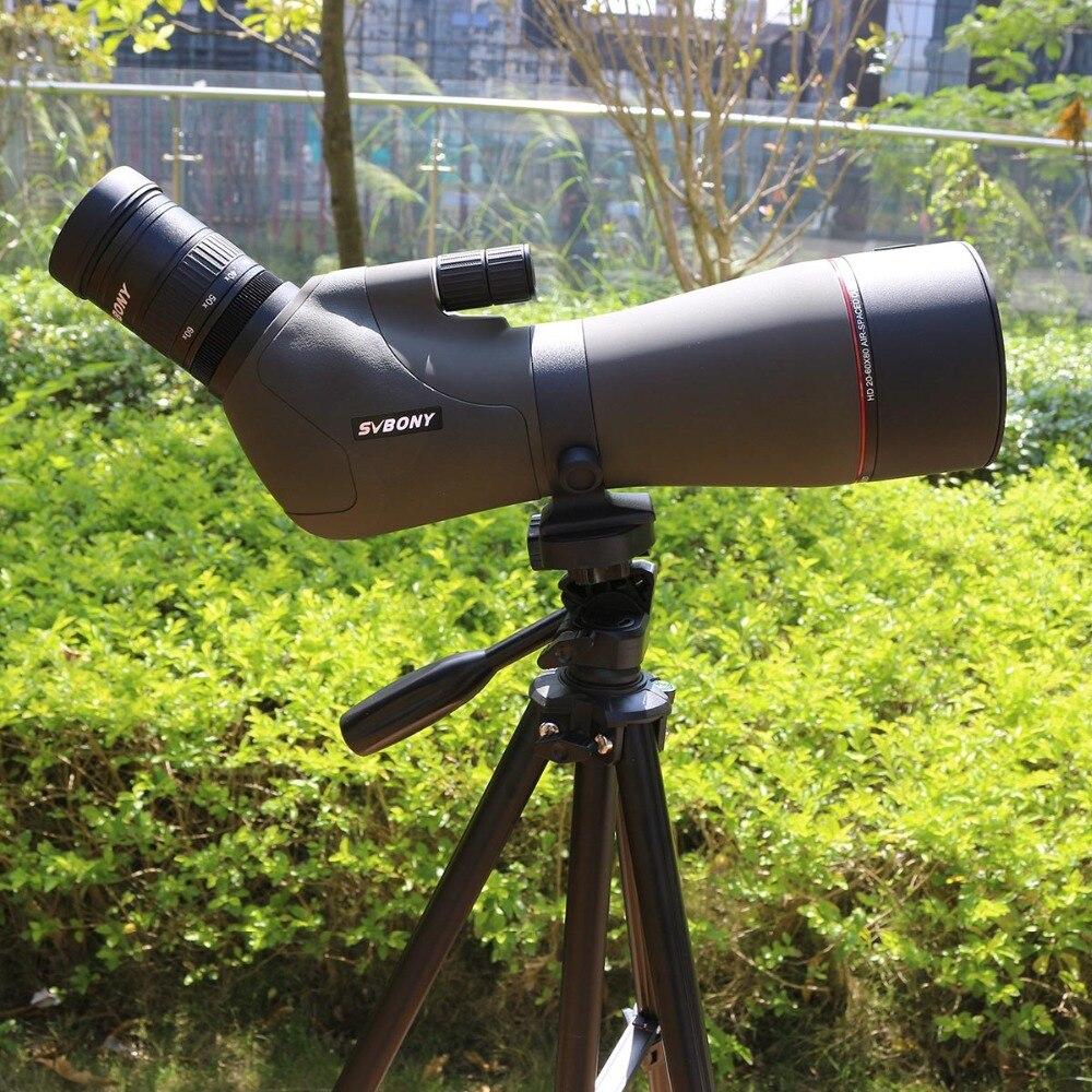 "Image 2 - SVBONY 20 60x80 Zoom Spotting Scope Nitrogen Filled Water proof Telescope Dual Focus Mechanism Metal Body w/ 54"" Aluminum Tripod-in Spotting Scopes from Sports & Entertainment"