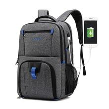 TSA büyük dizüstü sırt çantası 17.3 inç bilgisayar çantası erkekler kadınlar için USB portu ile İş seyahat koleji okul sırt çantaları