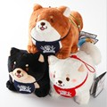 Розничная Япония верный пес Сиба-Ину три брата плюшевые куклы брелок сумка подвеска 20160421