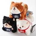 retail Japan loyal dog Shiba Inu three brothers  plush doll keychain bag pendant 20160421