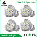 10pcs Full Spectrum Led Grow Light 28W E27  Led Growing Lamp for Hydroponics Flowers Plants Vegetables Growing indoor grow boxes