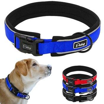 Didog Reflective Dog Collar Premium Nylon Neoprene Padded Dog Pet Collar for Small Medium Large or XLarge Sized Dogs telephony