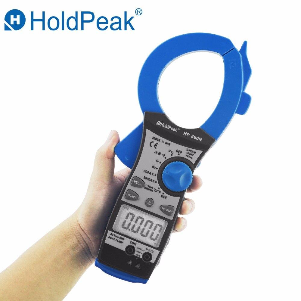 HoldPeak Digital Clamp Meter HP-860N Auto Range DC AC Digital Clamp Meter Multimeter Capacitance Temperature Tester with Clip цена