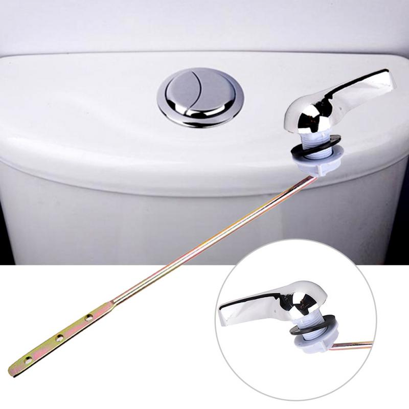 20CM Universal Toilet Tank Flush Lever Luxury Chrome Toilet Wrench Iron Handle Toilet Wrench Water Tank Accessory Bathroom Tool