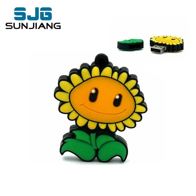 corpse flower PenDrive 8GB 16GB 32GB 64GB 4GB  sunflower Usb Flash Drive memory stick Pen drive drive download usb drive Gift