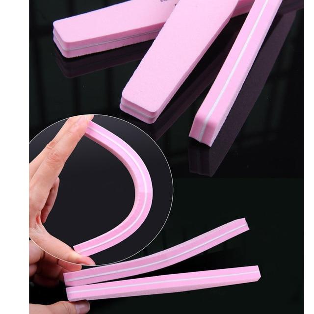 20pcs Nail Buffer 100/180 Double-side Nail Polish Buffer Sanding Block Buffers For Nails Art Tools Buffing Sponge File 5 Colors 5