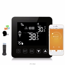 WiFi Programmable Thermostat Echo Alexa Voice Control Electric Floor Heating Room Temperature Control 16A 100-240V lx502 heating thermostat temperature control switch plug type carbon crystal electric heater for temperature control