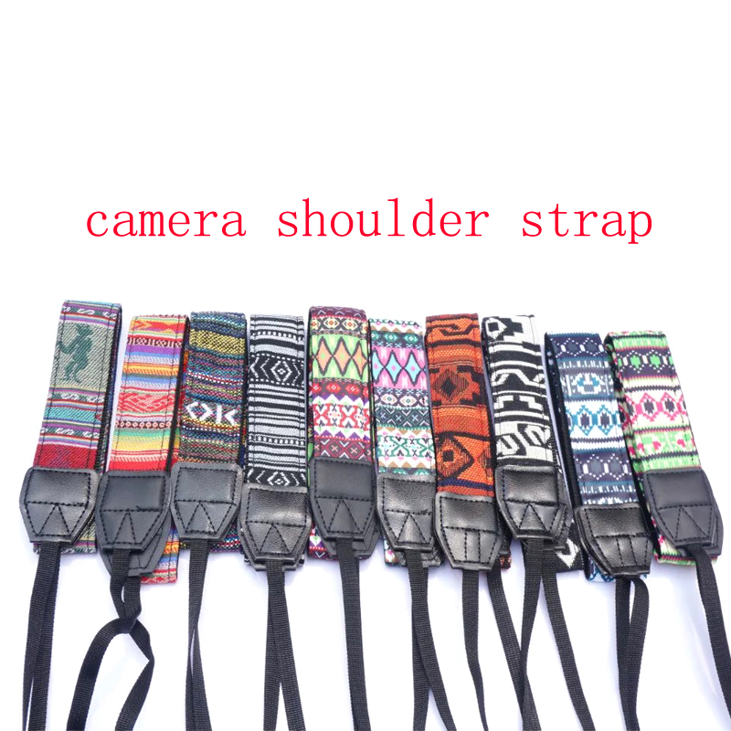 SMILYOU Camera Strap Vintage Hippie Style Canvas Shoulder Neck Durable Cotton for Nikon Pentax Sony Canon DSLR Camera