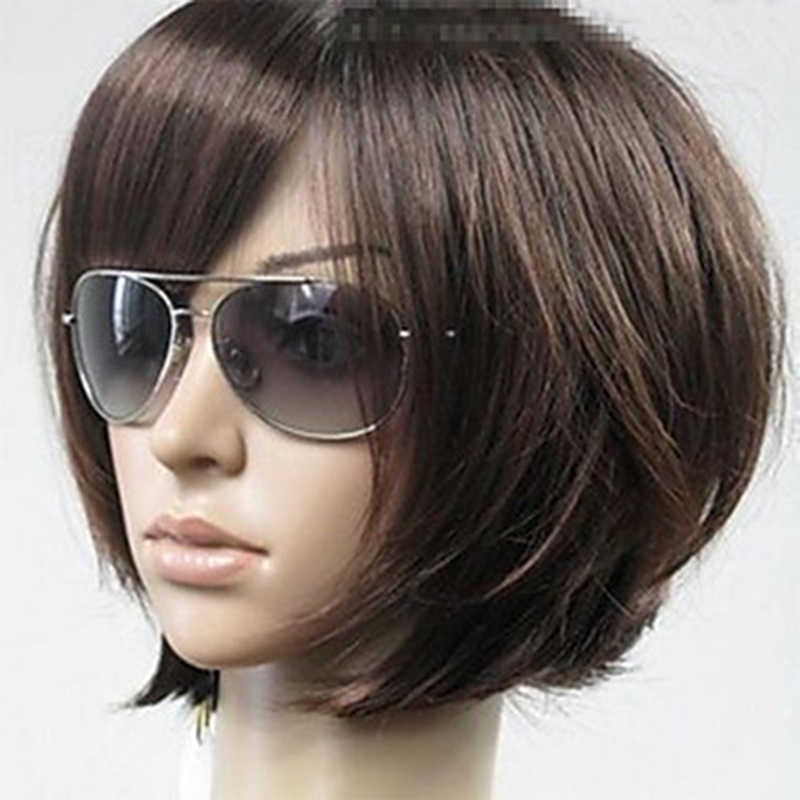 HAIRJOY Woman Vogue Brown Straight Short Synthetic Hair Wigs Free Shipping 6 Colors Available