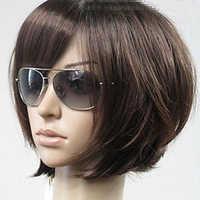 HAIRJOY Frau Vogue Brown Gerade Kurze Synthetische Haar Perücken Freies Verschiffen 6 Farben Erhältlich