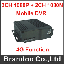 Motion detection 4G 4channel mobile vehicle car DVR from Brandoo free shipping