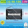 [V026] 3.8 v, 3.7 v, 7000 mah, [3298156] polymer lithium ion/li-ion bateria (para lg celular) para tablet pc, gps, e-book, onda, cubo, pipo
