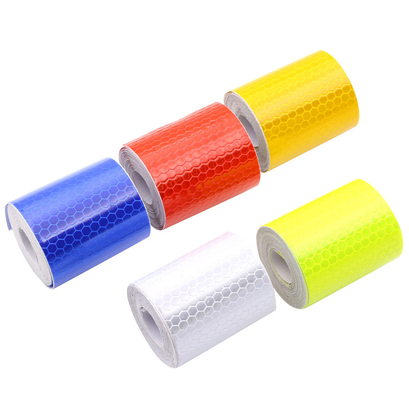 Car-styling Safety Mark Reflective tape stickers 5cmx3m Self Adhesive Warning Tape Automobiles Motorcycle Reflective Film 5color yemingduo 25m long self adhesive pvc reflective safety warning tape road traffic construction site reflective arrow mark