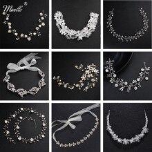 Miallo Fashion Handmade Crystal Bridal Headbands Wedding Hair Accessories Jewelry Headpieces Bride's Tiaras Women Head Ornaments цена