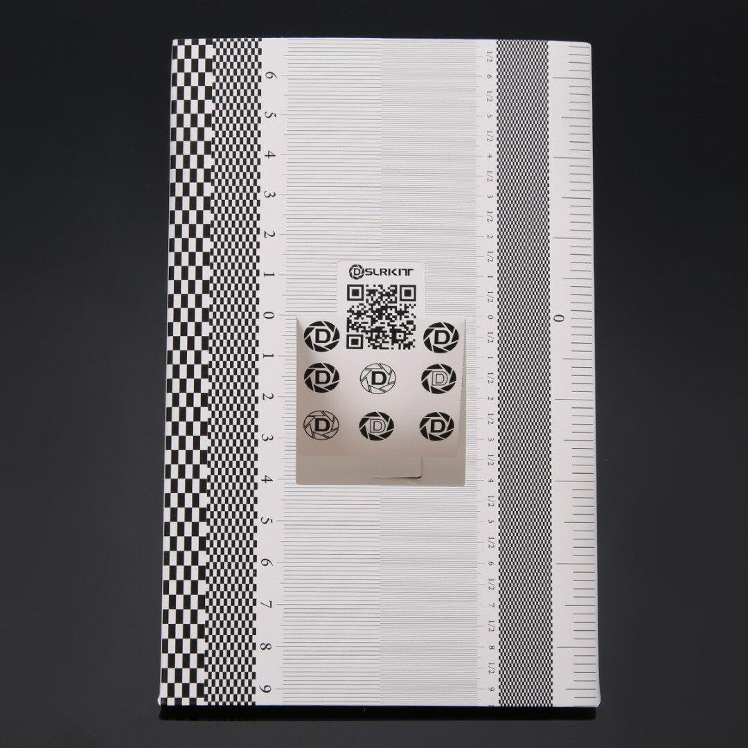 Pohiks 1pc Pro Focus Calibration Ruler Camera Folding Card Lens Calibration  Alignment AF Micro Adjustment Ruler Chart New