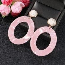 Badu Big Bohemian Acetic Acid Earring Round Acrylic Dangle Drop Earrings for Women Holiday Fashion Jewelry Wholesale