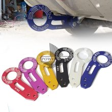 Car-Styling Aluminum Car Racing Trailer Ring 6Color Tow Hook Eye Tow Car Screwon Towing Bars Universal For Car Auto Trailer Ring abs metal colorful tow hook allen wrench car auto trailer decorative tow hook universal for truck suv front bumper automotive