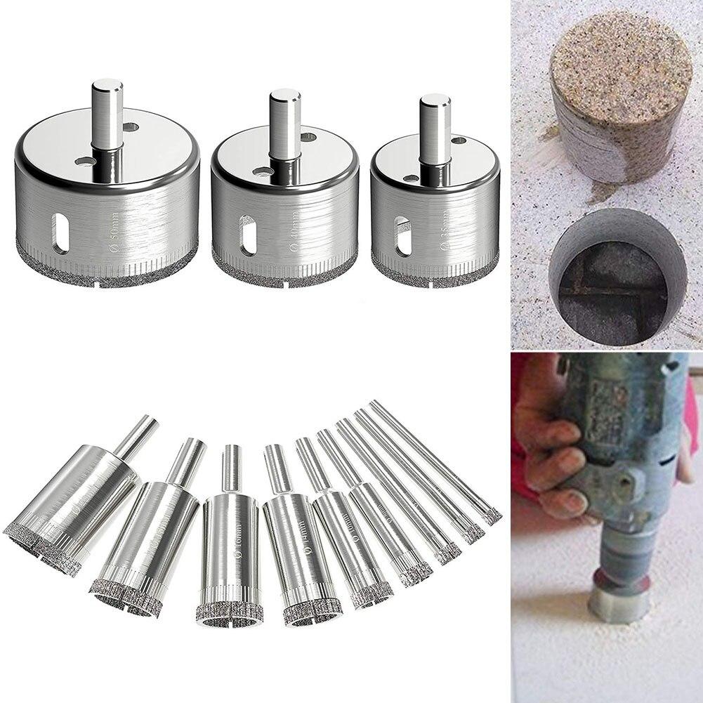 Newest 12 Pcs Drill Bits Glass Tile Hole Saw Bit Set Hollow Core Drill Bit For Glass Ceramics Tile