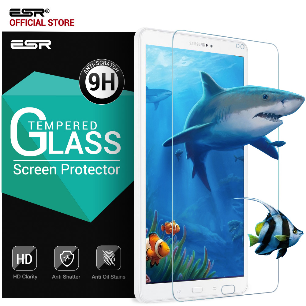 Screen Protector for Samsung Galaxy Tab A 10.1 SM-T585 (T580/T580N), ESR 9H Tempered Glass Film 0.33mm Bubble-Free Anti-Scratch стоимость