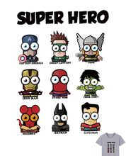 Buy 20x15cm Cartoon super hero Parches Iron On Stickers Washable Appliques A-level Patch Heat Transfer For DIY Accessory Clothes Bag directly from merchant!
