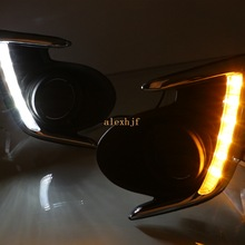 July King LED Daytime Running Lights Case for Mitsubishi Attrage 2012~15 Mirage G4, LED DRL With Yellow Turn Signal Light