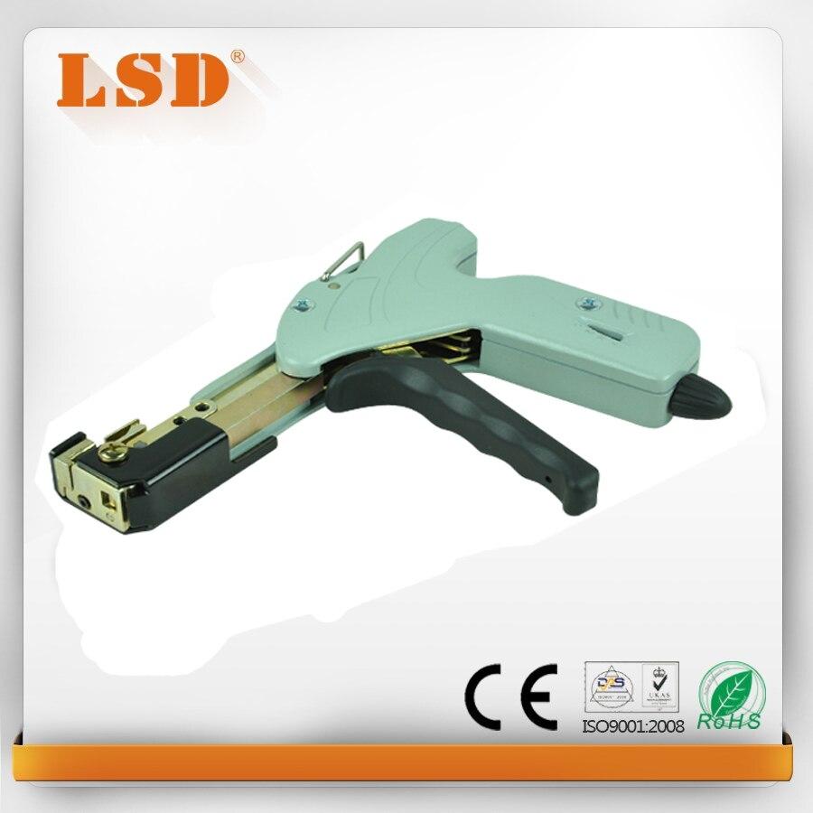 LS-338 de fixation et de coupe 2 en 1 câble cravate pistolet pour 2.4-4.8 en acier inoxydable cable tie gun