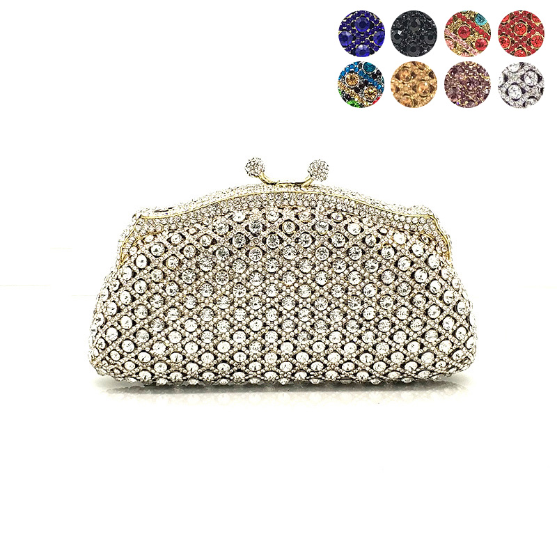 Fashion women evening party wallet handbag diamonds elegant purses luxury crystal clutches bridal wedding party purses